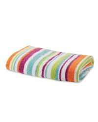 Mixed Stripe Bath Towel - Orange & Pink