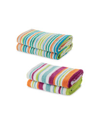 Mixed Stripe Hand Towel 2 Pack