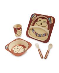 Monkey Bamboo Dinner Set