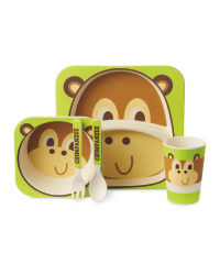 Monkey Bamboo Dinner Set