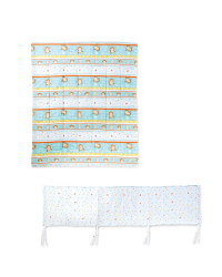 Monkey Bumper & Quilt Set