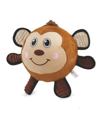 Monkey Plush Football Dog Toy