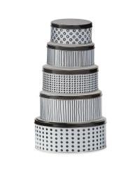 Monochrome Nested Storage Tins