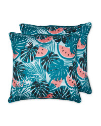 Monstera Outdoor Cushion 2 Pack