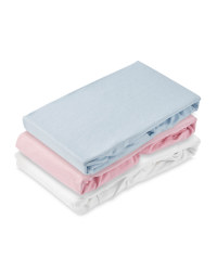 Moses Basket Fitted Sheet 2-Pack