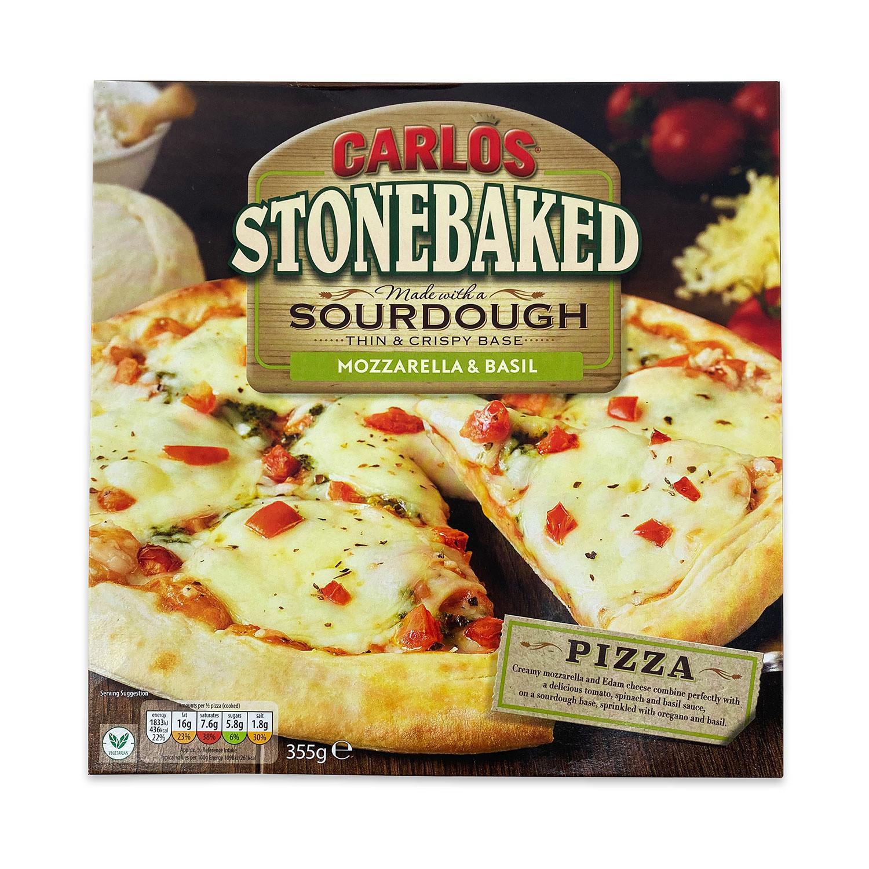 Mozzarella & Basil Sourdough Pizza