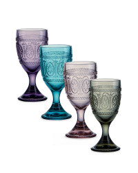 Wine Glasses 4 Pk - Multi Coloured