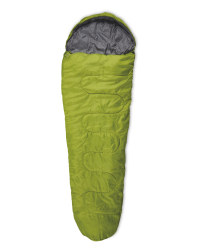 Mummy Sleeping Bag Left Zip - Green/Grey