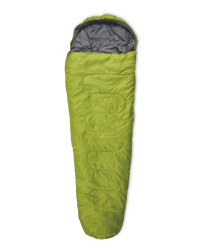 Mummy Sleeping Bag With Right Zip - Green