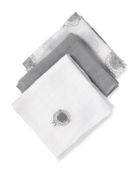 Muslin Cloths 3-Pack Grey Sheep