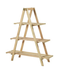 Natural Wooden Plant Stand