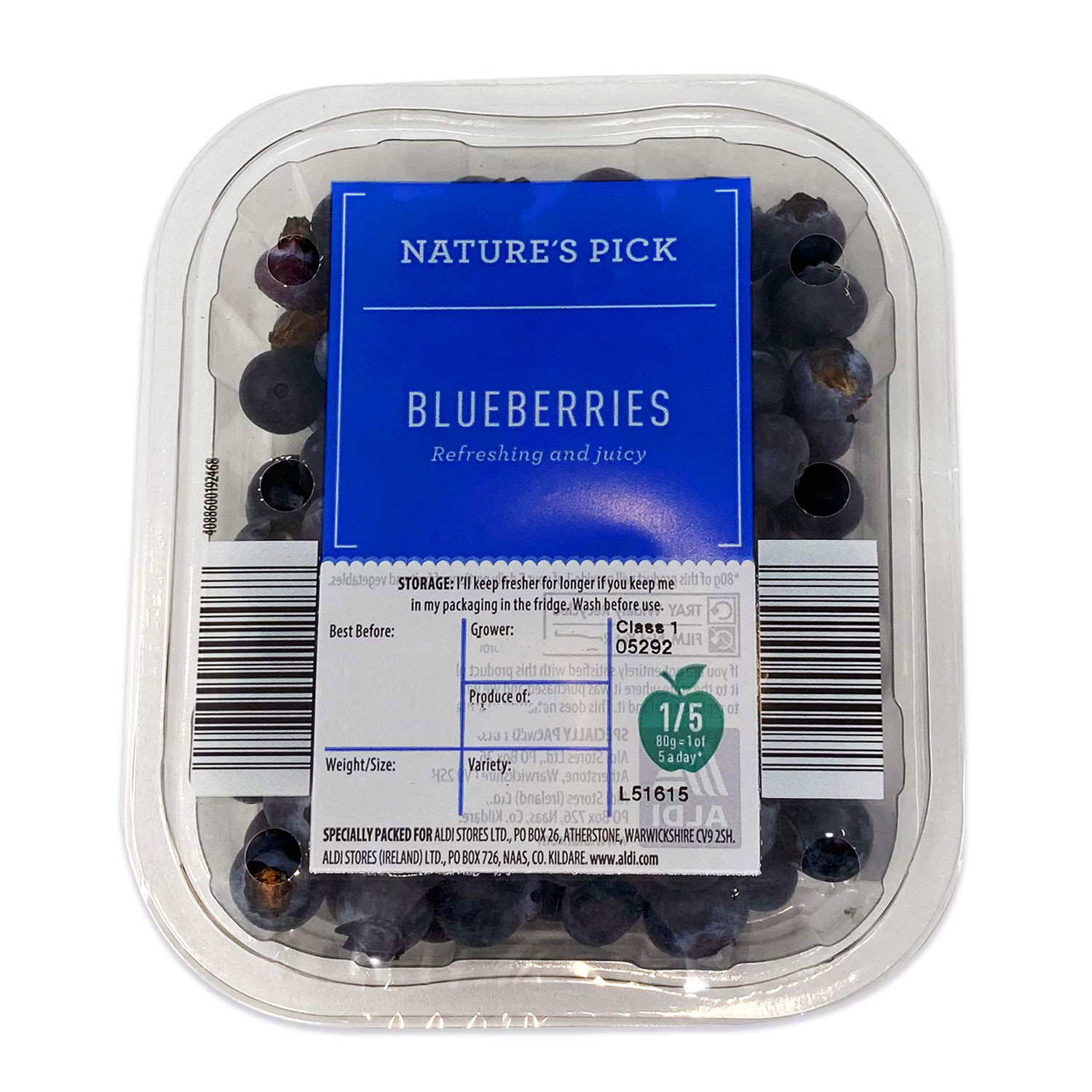 Nature's Pick  Blueberries 150g