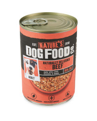Nature's Dog Food Can Beef