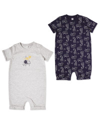 Navy Baby Romper 2 Pack