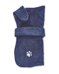 Pet Collection Navy Dog Towel Coat