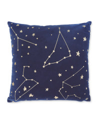 Navy Gold Foil Cushion
