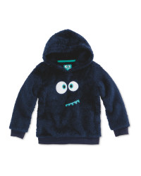 Navy Kids Teddy Fleece Jumper