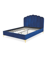 Navy King Size Scallop Bed