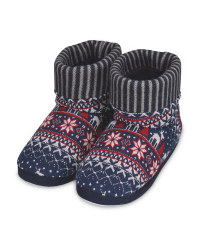 Avenue Men's Navy Knitted Boots
