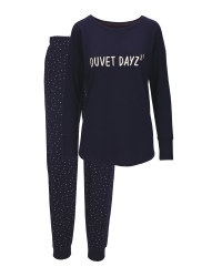Navy Ladies' Glitter Pyjamas