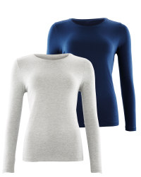 Navy Ladies' Sleeved Tee 2 Pack