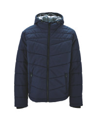 Navy Men's Quilted Jacket