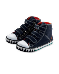 Navy Novelty Dinosaur Boots