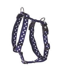 Navy Stars Standard Pet Harness