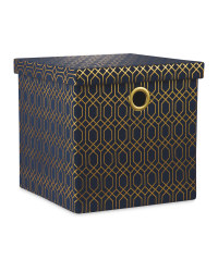 Navy  Storage Cube With Lid