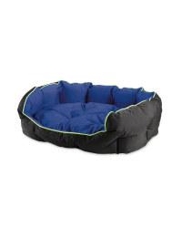 Blue/Black Water Resistant Pet Bed