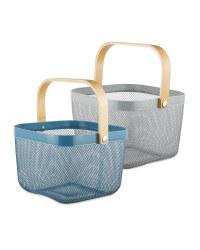 Navy/Grey Kitchen Storage Baskets