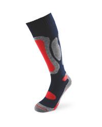 Navy/Red Ski Socks