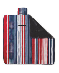 Navy/Red Stripe Picnic Blanket