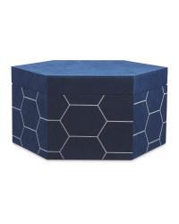 Navy/Silver Velour Storage Box