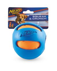 Nerf Blue Crunch Ball Dog Toy