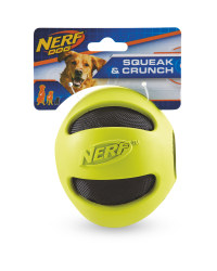 Nerf Yellow Crunch Ball Dog Toy