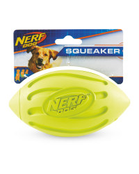 Nerf Yellow Football Dog Toy