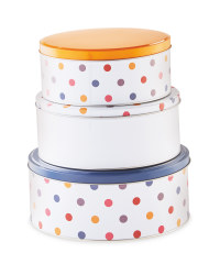 Nested Spots Storage Tins 3 Pack