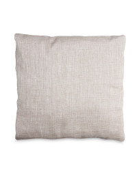 Neutral Metallic Cushion