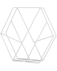 Hexagon Cross Magazine Storage Rack - Grey