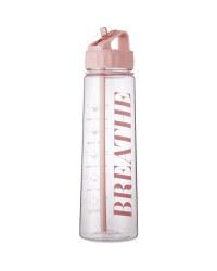 Pink Hydration Tracker Bottle