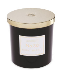 Night Orchid Black Glass Candle