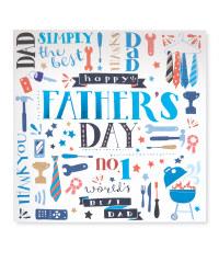 No1 Worlds Best Dad Card