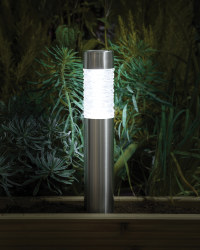Noma 45cm Solar Bollard Path Light