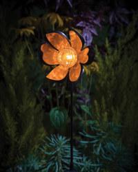 Noma Solar Flower Ball Stake Light