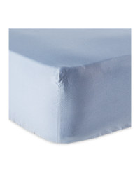 Non-Iron Double Fitted Sheet - Blue