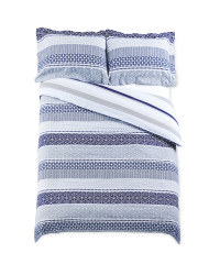Non-Iron Stripe Double Duvet Set