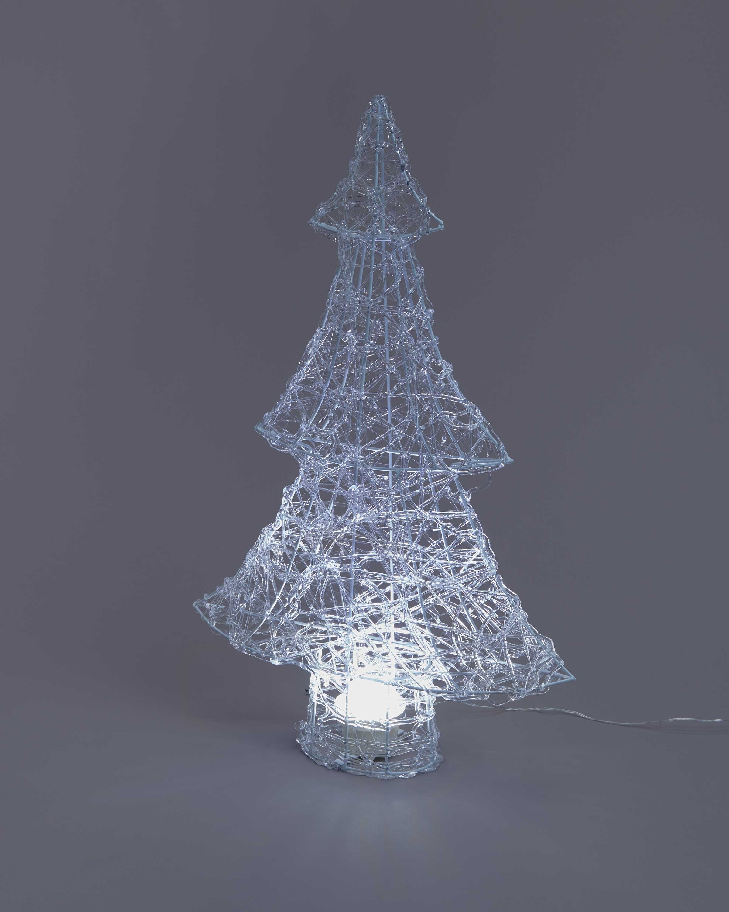 Northern Lights Acrylic Tree White Aldi Uk