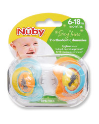 Dinosaur 6-18 Day Soother 2 Pack