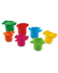 Nuby Green Stackable Cups Bath Toy